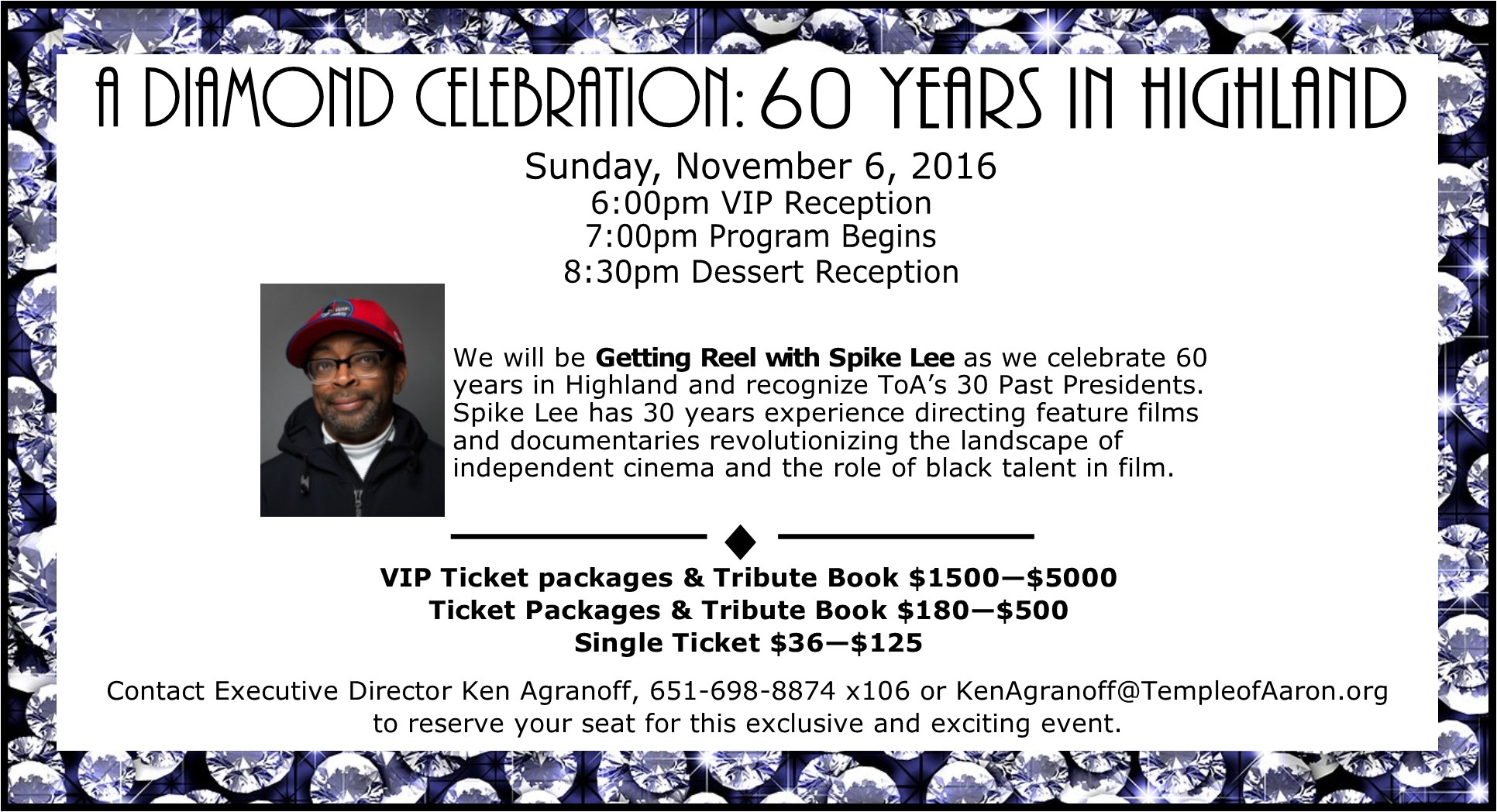 A Diamond Celebration November 6th