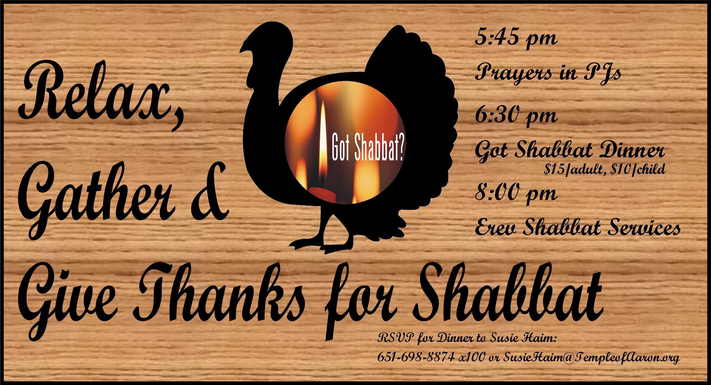 Thanksgiving Dinner Got Shabbat