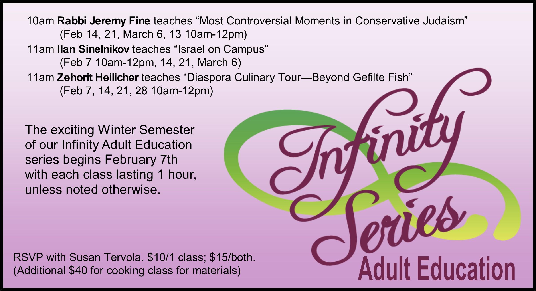 Infinity Adult Education - Winter 2016 Semester