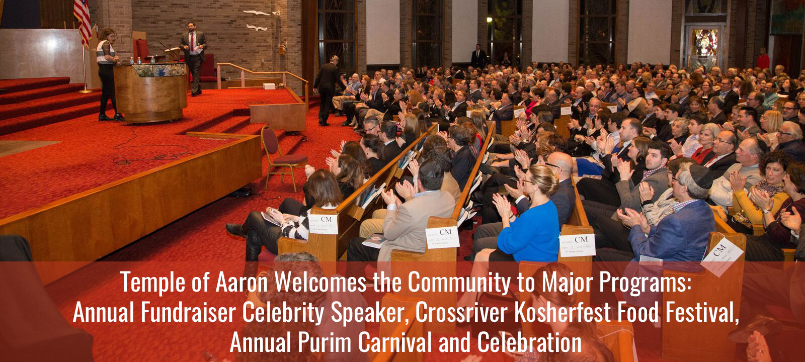 Temple of Aaron Hosts Large Programs Throughout Year