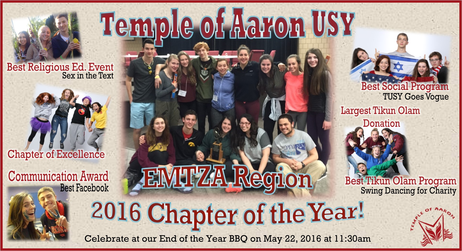 TUSY Wins Chapter of the Year!