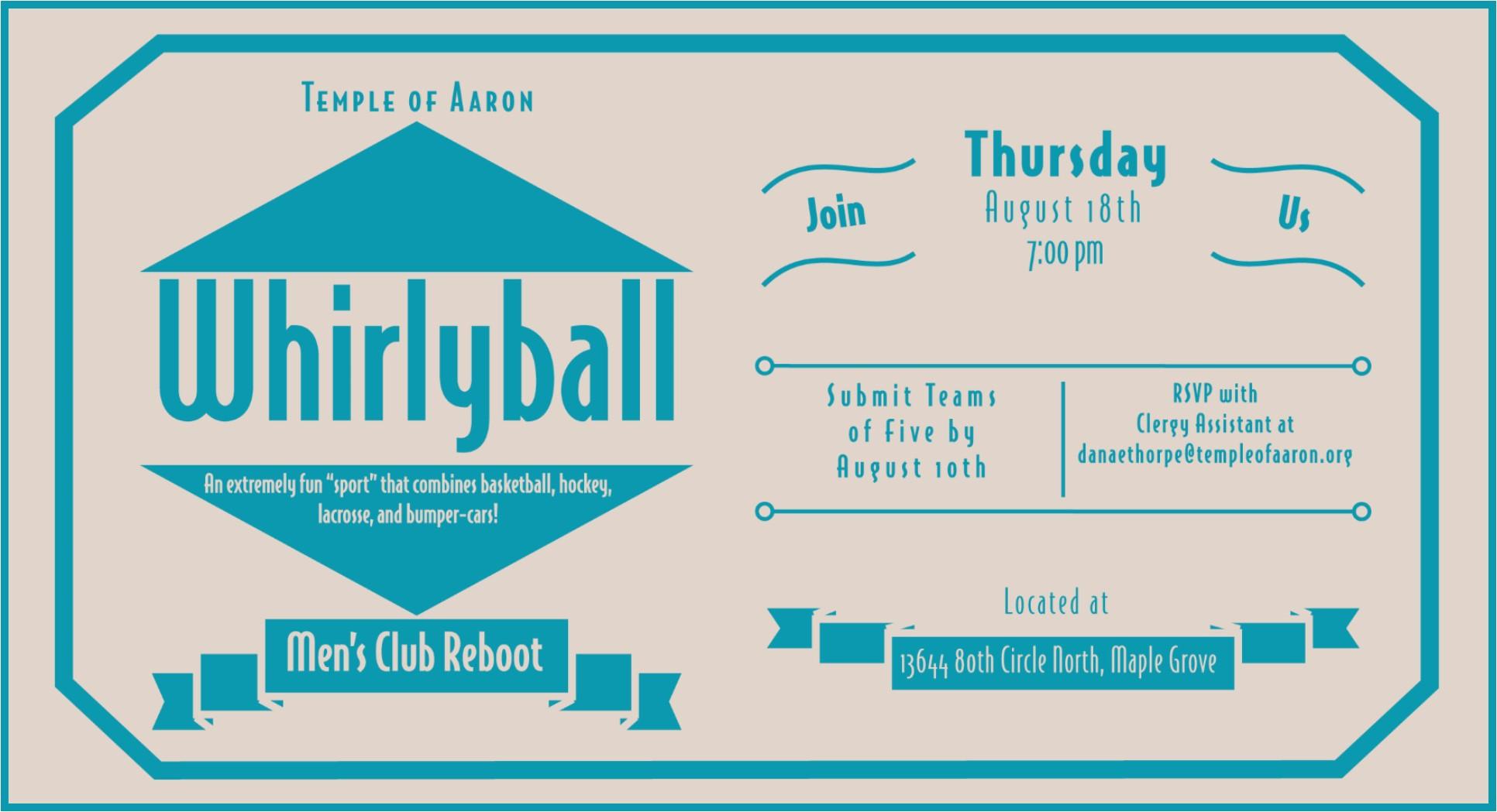 Men's Club Whirlyball Event
