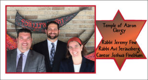 Temple of Aaron's Clergy Team is here to engage all members in prayer, learning and social programs.  Meet the clergy here.
